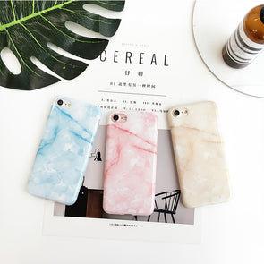 Light Blue Pink Yellow Marble iPhone Case