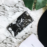 Dark Granite Marble iPhone Case