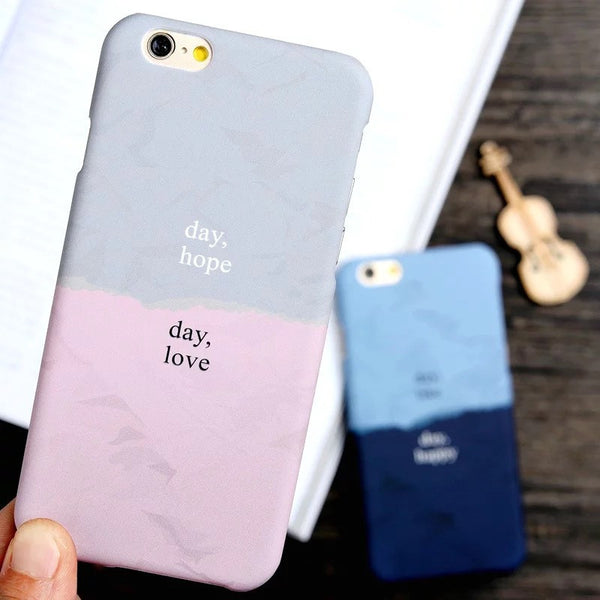 Dual-Tone Artistic iPhone Case