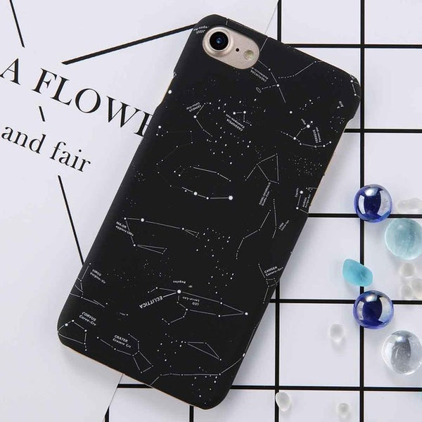 Matte Starry Sky Artistic iPhone Case