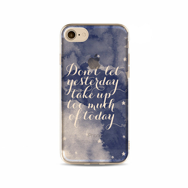 'Don't Let Yesterday...' Inspirational iPhone Case