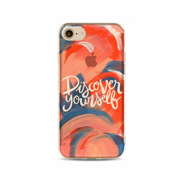 'Discover Yourself' Inspirational iPhone Case