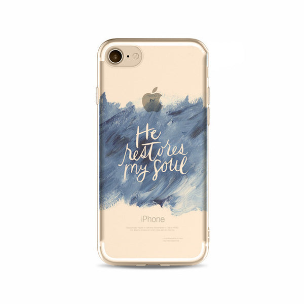 'He Restores My Soul' Inspirational iPhone Case