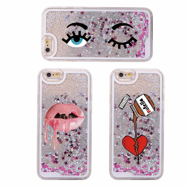 Sparkle Eyes Lips Aesthetic Glitter iPhone Case