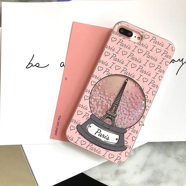 I ♡ Paris Glitter iPhone Case