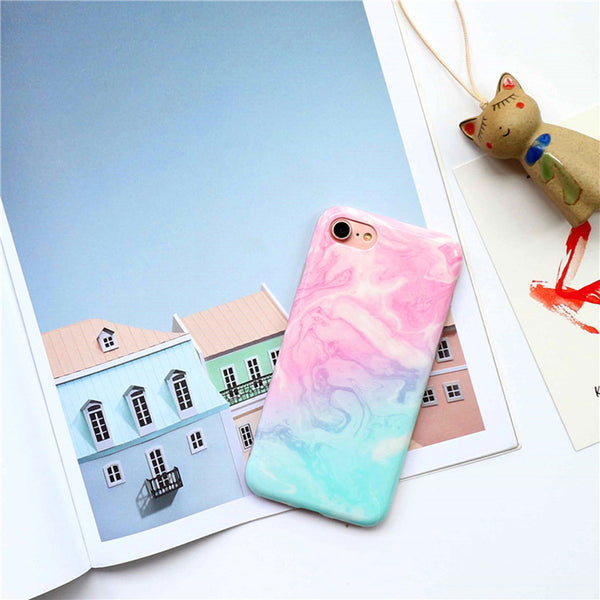 Colorful Gradient Marble Artistic iPhone Case