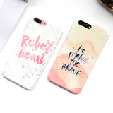 "Marble ""He Makes Me Brave"" Inspirational iPhone Case"