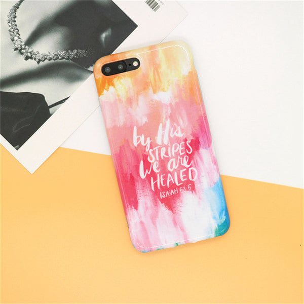 'By His Stripes We Are Healed' Marble iPhone Case