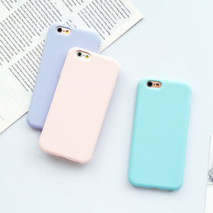 Multi Color Frosted Matte Silicone iPhone Case