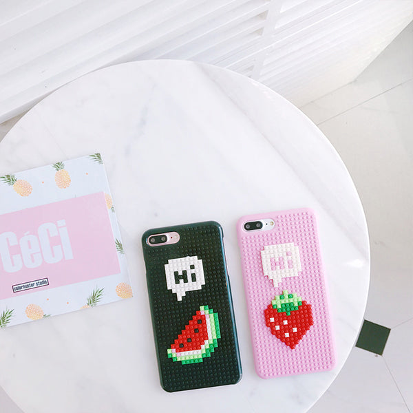 Fruits Building Blocks Artistic iPhone Case