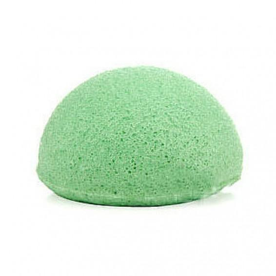 Unpackaged Eco Konjac Sponge - Green Clay Infused for Normal, Combination & Oily Skin Zero-Waste - Alcome.Co