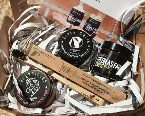 VEGAN BODY BOX // Alcome Co Organic Beauty Box / Natural Cruelty-Free Skin Care Gift // - Alcome.Co