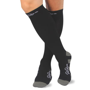 RioRiva 20 - 30 mmHG graduated compression socks Black for running