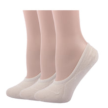 RioRiva White Women No Show Socks Solid color-Low cut invisible for peds