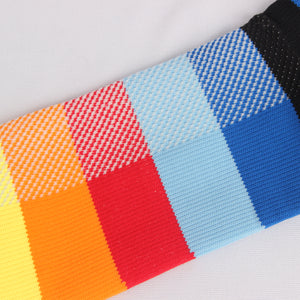 RioRiva 20 - 30 mmHG graduated compression socks striped rainbow