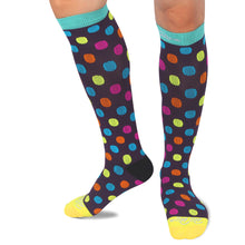 RioRiva 20 - 30 mmHG graduated compression socks dotted for women