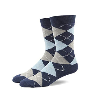 RIORIVA Men Dress Socks -Big Tall Fun Designed Patterned Colorful socks