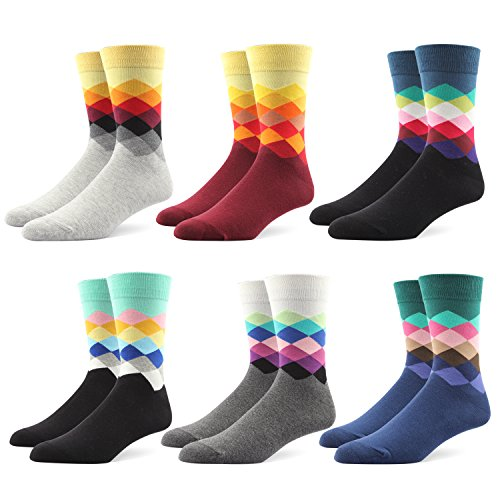 Men dress socks premium quality cotton blend assorted colors