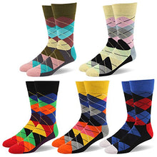 RIORIVA Men Dress Socks -Big Tall Fun Designed Patterned Colorful For Casual