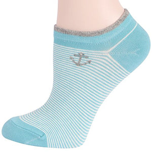 RioRiva Women Fashion Designs No Show Socks - Low cut Cotton