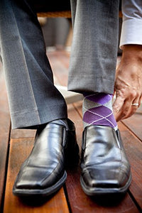RioRiva | Wide Mid Calf Tube Socks | Designer Mens Business Socks argyle