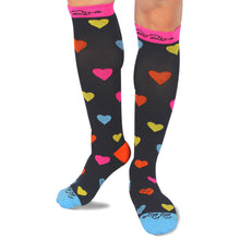 RioRiva 20 - 30 mmHG graduated compression socks heart shaped for women