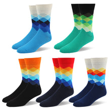 RioRiva Men Dress Socks Classic Argyle Pack of 5 (5 pairs/box)