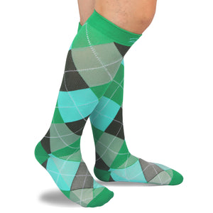 RioRiva 20 - 30 mmHG graduated compression socks argyle green