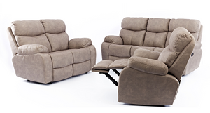3 Piece Nevada 3 Recliner Lounge Suite