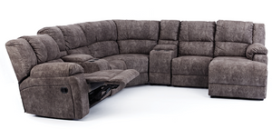 5 Piece Arial 1 Recliner Corner Lounge Suite