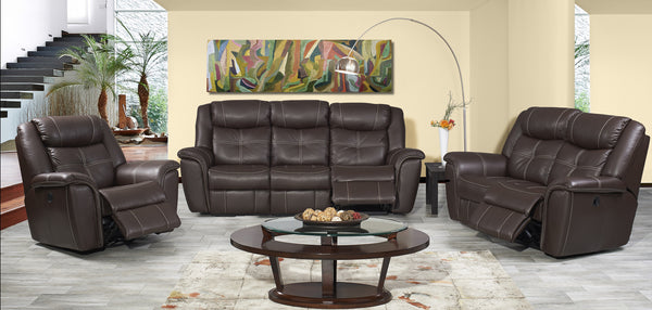 3 Piece 5 Recliner Texas Lounge Suite - Exotic Leather - Danie Du Toit Furnishers