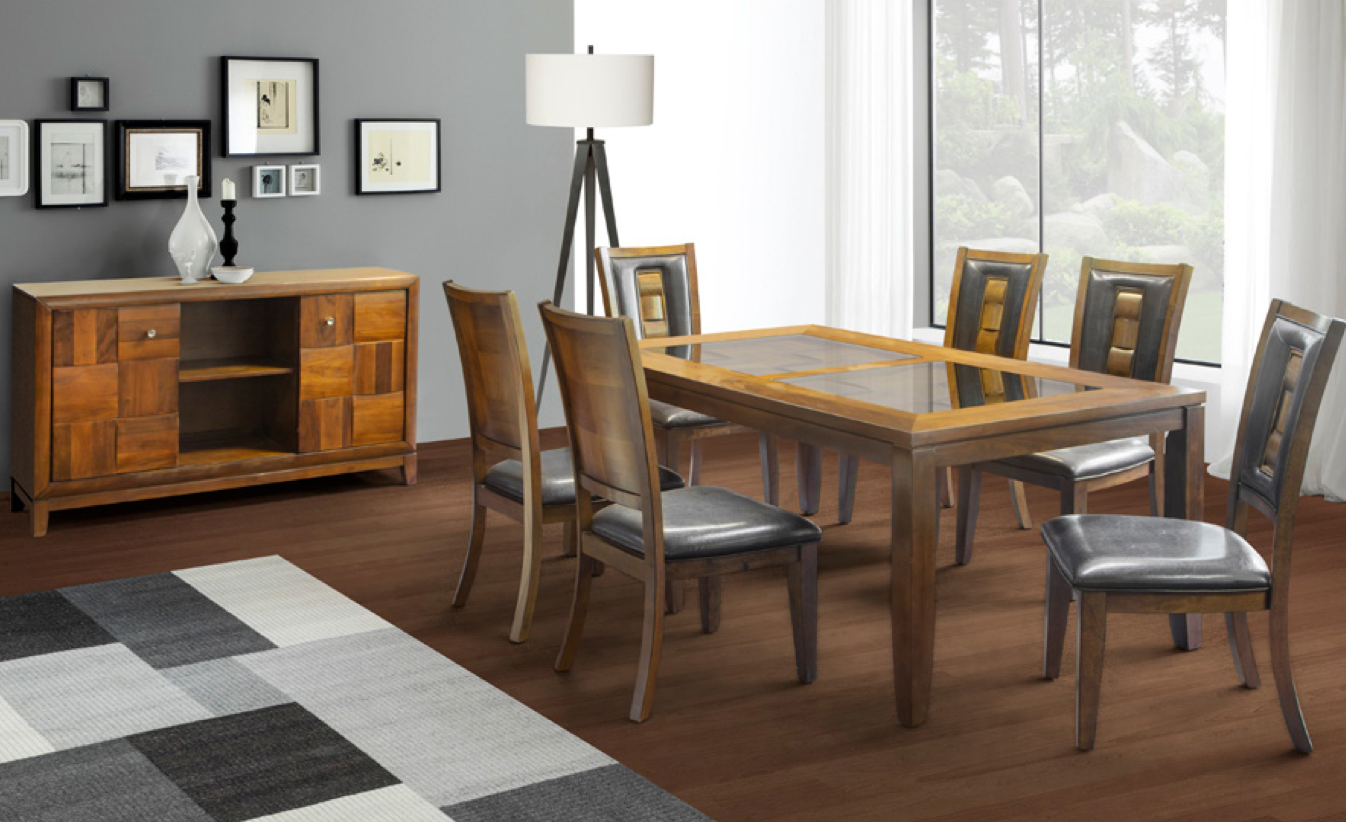 8 Piece Milan dining Room Suite