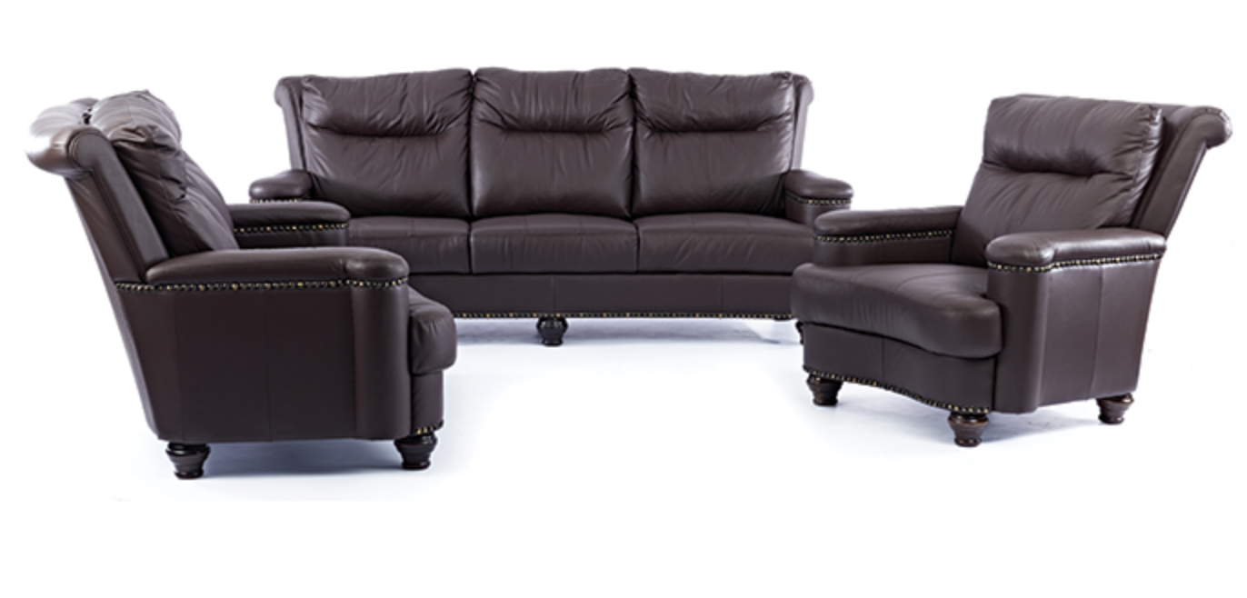3 Piece Diplomat lounge Suite - FULL LEATHER ONLY