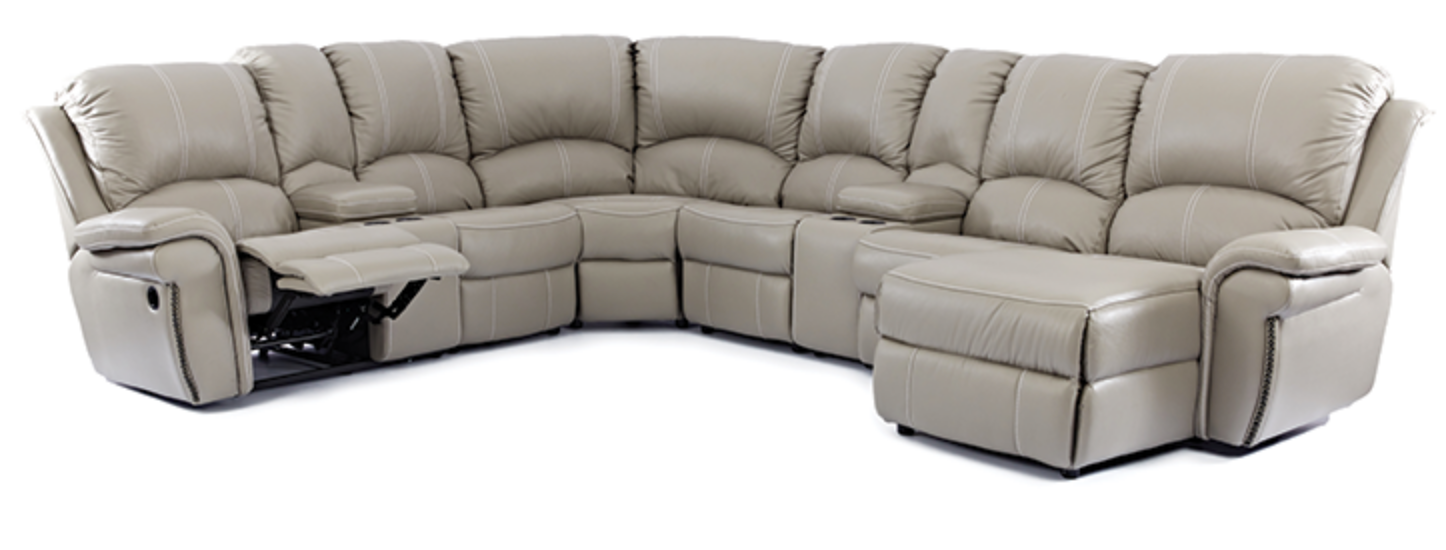 7 Piece Jersey 1 Recliner Corner Lounge Suite