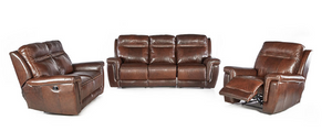 3 Piece 5 Action Bison Lounge Suite - FULL LEATHER ONLY