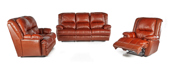 3 Piece 3 Action Raphael Lounge Suite - LEATHER UPPERS ONLY