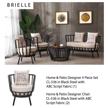 4 Piece Brielle Patio Set