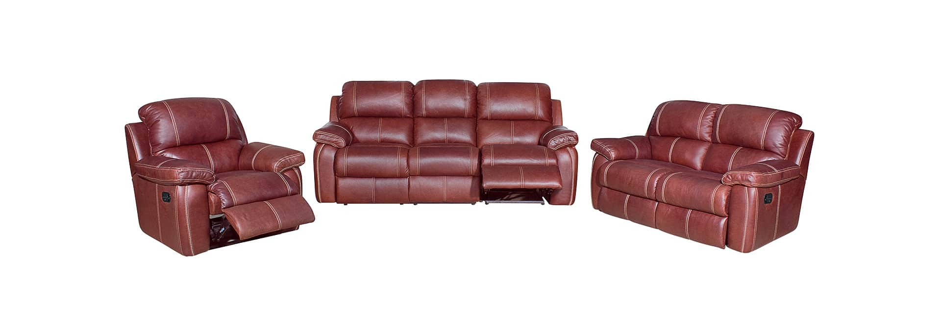 3 Piece 5 Action Sophia Recliner Lounge Suite - Danie Du Toit Furnishers