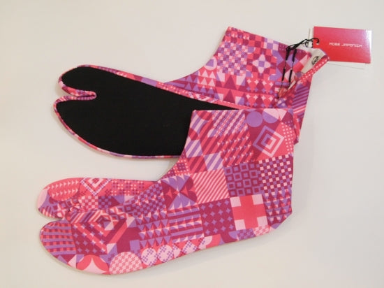 Tabisocks Geometric Pink