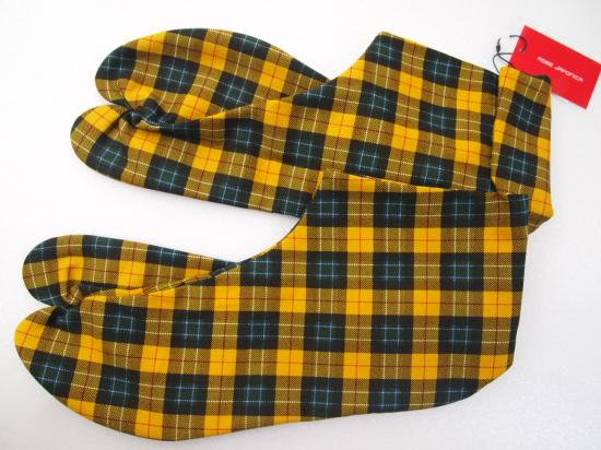 Tabisocks tartan check yellow