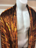 Haori Jacket Gold striped velvet