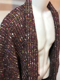 Haori Jacket fancy tweed purple