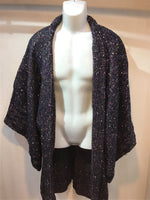 Haori Jacket fancy tweet navy