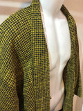 Haori Jacket tweed yellow x black