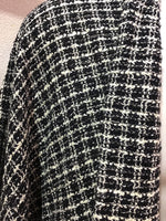Haori jacket black white tweed