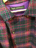 Inverness coat checked tweed