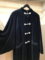 China quilting coat velor Navy X geometric