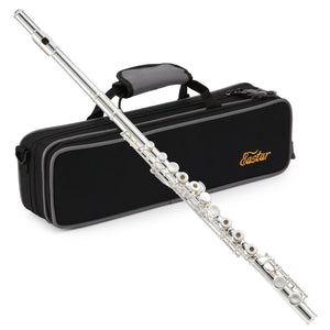 Best student flute set. Eastar EFL-2: Open/Close Hole C Flutes 16 Keys Silver Plated Beginner Flute Set