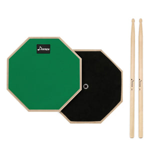 Green Donner 8 Inches Drum Practice Pad With Drum Sticks