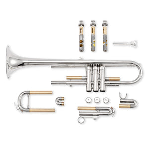 Eastar Trumpet Brass Standard Bb Trumpet Set For Student Beginner With Hard Case Gold/Nickel